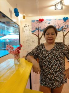 Ms. Sandra Song, owner of Mashiso Korean Food Corner