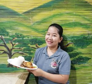 Ms. Debbie Vinco, owner of Umbao Chicken